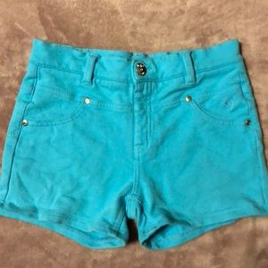 Justice size 16 teal soft knit shorts